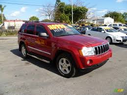 2005 jeep grand cherokee limited 4x4 in inferno red crystal pearl