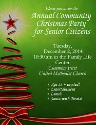 holiday lunch invitation community christmas party for senior citizens first