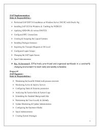 Resume Bm Sap Mm Sle Resumes 28 Images Sap Consultant Resume Sle