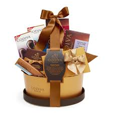chocolate basket signature chocolate basket classic ribbon godiva