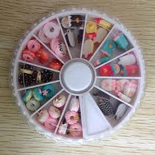 Nail Decorations Aliexpress Com Buy Ice Cream Doughnut Design Resin 3d Nail
