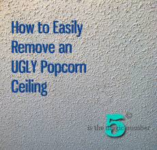 Test Asbestos Popcorn Ceiling by 5 Is The Magic Number How To Easily Remove An Ugly Popcorn Ceiling