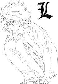 death note coloring pages eson me