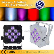 battery powered cl light china battery powered wireless 9x18w rgbaw uv led par stage