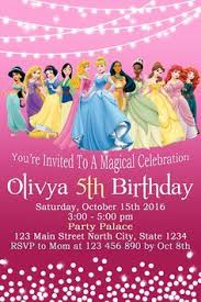 free printable disney princess birthday invitation templates 4th