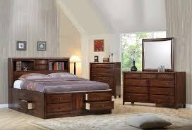 Storage Bed Sets King Brinley Cherry Storage Bedroom Set King Storage Designs