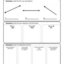 lines rays and line segments worksheets angles rays and segments worksheet 1