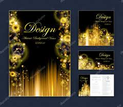 abstract composition business card set event info text elegant