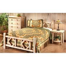 Log Queen Bed Frame 4 Poster Queen Bed Frame Castlecreek Diamond Cedar Log Bed King