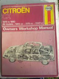 haynes manual citroen cx 75 80 all models 1985cc 2175cc 2347cc