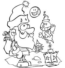 Coloriage Petit papa Noël et la luciole par Dang illustrateur jeunesse
