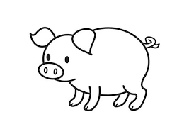 Cute Pig Coloring Page Coloring Sky Pig Coloring Pages