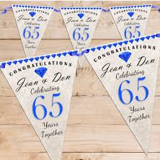 65 wedding anniversary personalised sapphire 65th wedding anniversary celebration flag