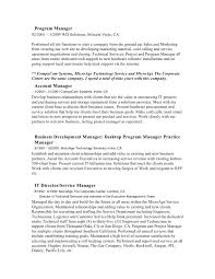 Resume Project Donald W Baxter Resume Project Focused Manager