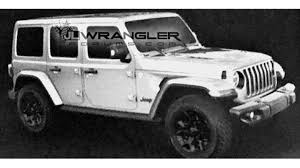 jeep rubicon white 2017 new 2018 jeep wrangler unlimited pictures leak online the drive