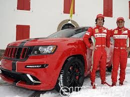 jeep matte red ferrari f1 drivers alonso and massa get 2012 jeep grand cherokee