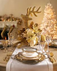 home design appealing gold christmas table decorations 1
