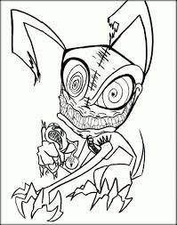 scary coloring pages color zini
