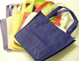 economy fabric coloured gift bags