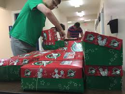 Operation Christmas Child Shoebox National Dropoff Week Collecting Shoe Boxes Filled With Everything But Shoes The