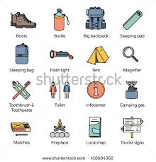outdoor traveler images Travel icons collection 3 basic accessories stock vector 410694382 jpg