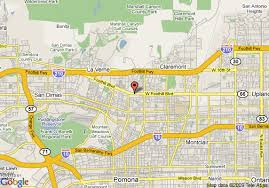 map of pomona california map of rodeway inn and suites pomona pomona