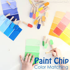 how to color match paint paint chip color matching activity munchkins and moms
