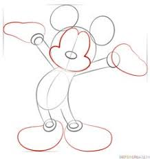 how to draw mickey mouse for kids step 7 kindergarten art