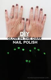 nail design glow in the dark nail polish homemade ginger
