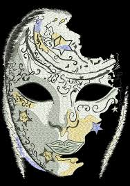 venetian mask venetian mask embroidery design 7 sizes 8 formats embrostitch