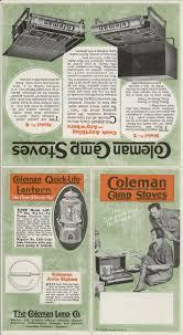 coleman stove manual 1927 ad 3 page coleman quick lite lamps shades lanterns parts