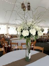 Baby S Breath Centerpiece Tall White Wedding Centerpiece With Babys Breath White Hydrangea