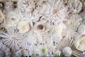 wedding backdrop flower wall paper flower wall our diy crush 128 south bakery 105