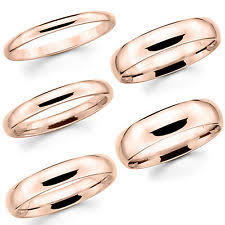 gold wedding band mens 14k solid gold wedding band ebay