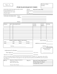 Free Purchase Order Form Template Excel 7 Best Images Of Blank Printable Purchase Order Blank Purchase