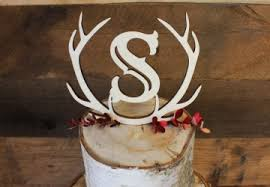 antler cake topper wedding cake toppers custom made monograms craftcuts