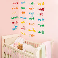 Alphabet Wall Decals For Nursery by Alphabet Educational Wall Stickers Wall Stickers U0026 Decals