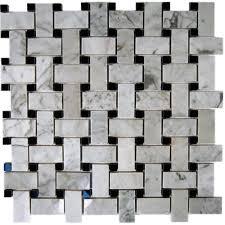 splashback tile magnolia weave white carrera 3 4 in x 2 in with