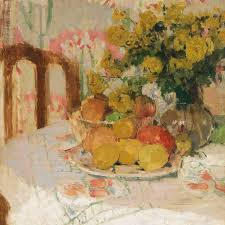 fruit and flowers henriette amiard oberteuffer still with fruit and flowers