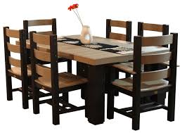 captain chairs for dining room luxcraft poly 4 u0027 x 6 u0027 contemporary table set with 4 regular chairs