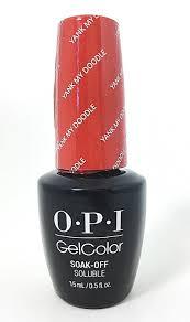 opi soak off gelcolor gel nail polish yank my doodle w58 reviews