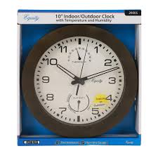 wall clock with thermometer and humidity 10