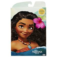 hair flower disney moana wig with plumeria flower toys