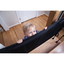 Baby Gate For Stairs With Banister And Wall The Stair Barrier Wall To Banister Indoor Outdoor Safety Gate Black