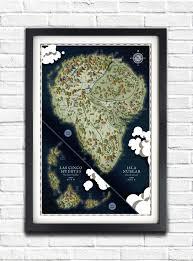Jurassic Park Map Jurassic Park Isla Nublar Map 19x13 Poster