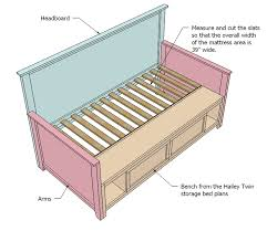 diy daybed plans ana white hailey storage daybed with back and arms diy projects