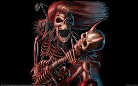halloween bones background dark music reaper skeleton skull guitars evil scary spooky