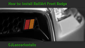 ralliart wallpaper cj lancer how to install ralliart front grille badge youtube