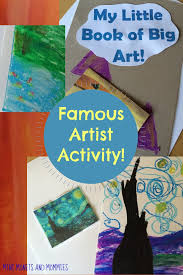 mini monets and mommies art viewing and art making kids u0027 book craft