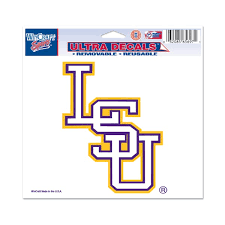 lsu alumni sticker lsu tigers 4 5 x 5 75 baseball logo auto ultra decal